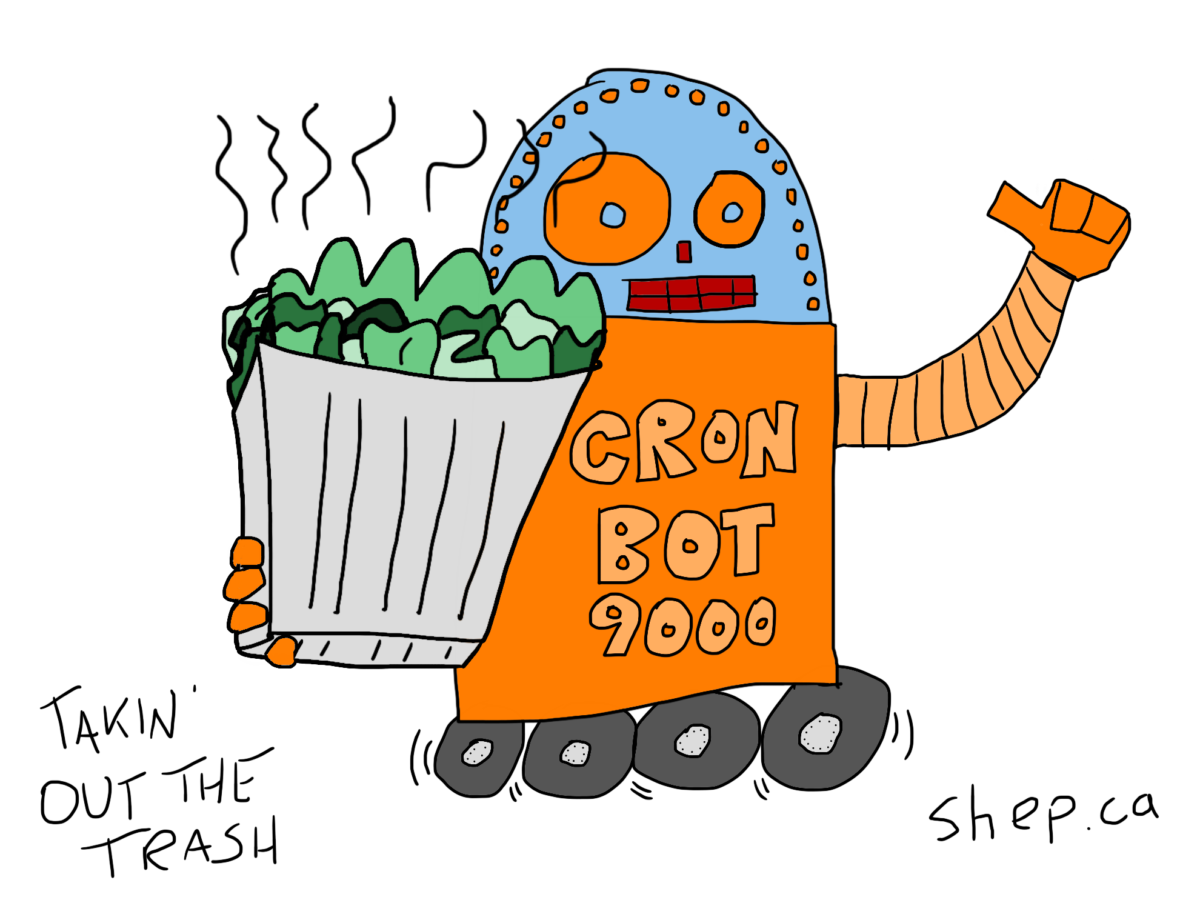 CronBot Takes Out The Trash